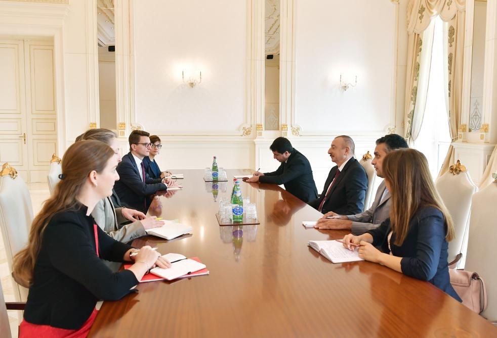 Prezident İlham Əliyev İsveçrənin Kantonlar Şurası sədrini qəbul edib