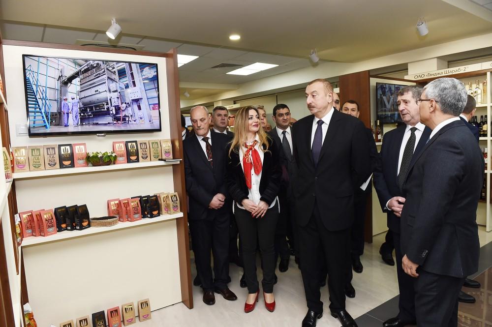 Prezident Minskdə Azərbaycan Ticarət Evi ilə tanış olub