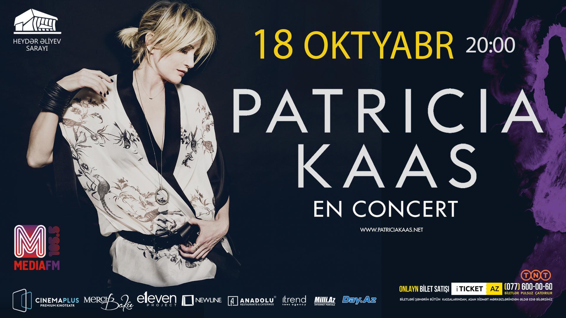 Patrisiya Kaas dünya turnesi çərçivəsində Bakıda çıxış edəcək